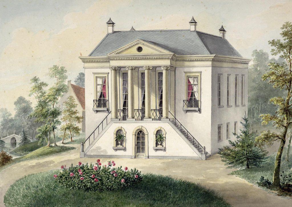 tekening uit 1830 van het Hoogeland