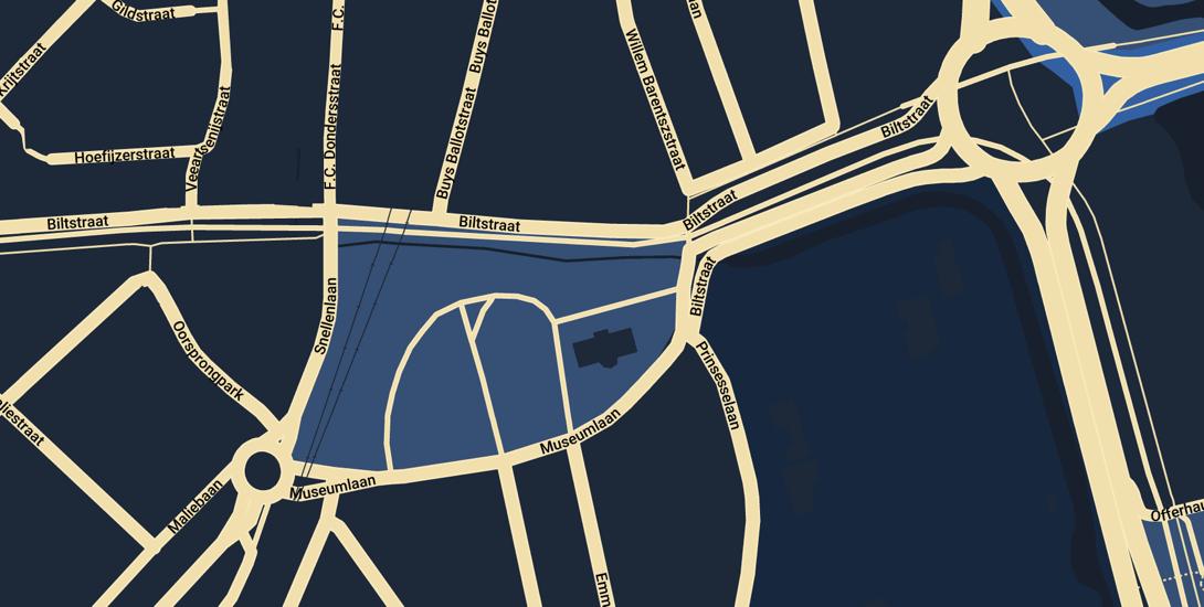 plattegrond gebied Museumlaan